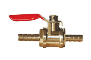 "Ball Valve with 1/4"" Barb x 1/4"" Barb"
