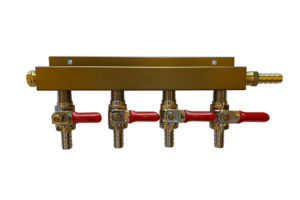 Custom built 4 way CO2 manifolds. Choose from 6 configurations